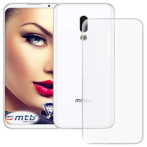 mtb more energy® Schutz-Hülle Clear & Slim für Meizu 16th (6.0'') | transparent | flexibel | TPU Silikon Case Cover Tasche