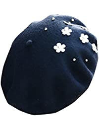 Sombrero Boina Invierno Caliente Boinas Vasca Boina Francesa Para Mujeres Niñas Negro