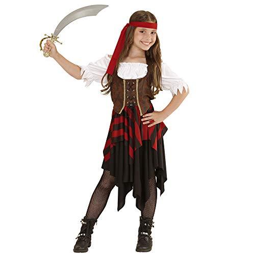 Widmann 05597 Kostüm, Mehrfarbig, 140 (Piraten Dame Kind Kostüm)