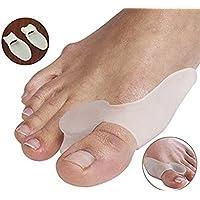 SiaMed, 4 separatoridi alta qualità per dita dei piedi I per il trattamento dell'alluce valgo I morbidi e confortevoli I in silicone soft-gel