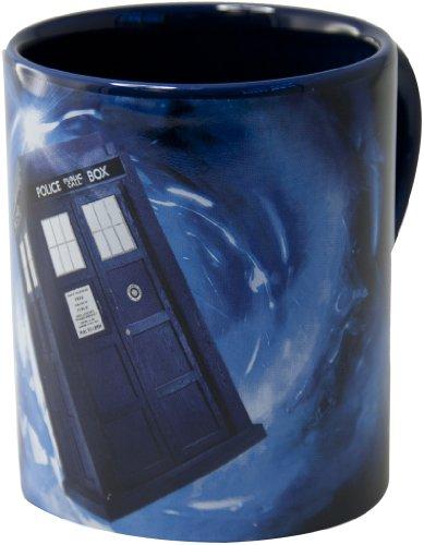 Dr Who - Tazza con Tardis nascosta al suo interno, colore: Blu