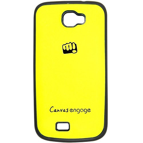 Casotec TPU Back Case Cover for Micromax Canvas Engage A091 - Yellow  available at amazon for Rs.175