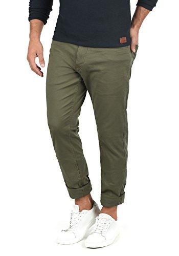Baumwolle-seide-hosen (Blend Saturn Herren Chino Hose Stoffhose Aus Stretch-Material Slim Fit, Größe:W31/34, Farbe:Dusty Green (70595))