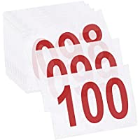 Gogo (Set de 100pcs Tyvek Carrera Babero número, 81/4x 6Pulgadas Secuencia Competidor números, Unisex, Rojo