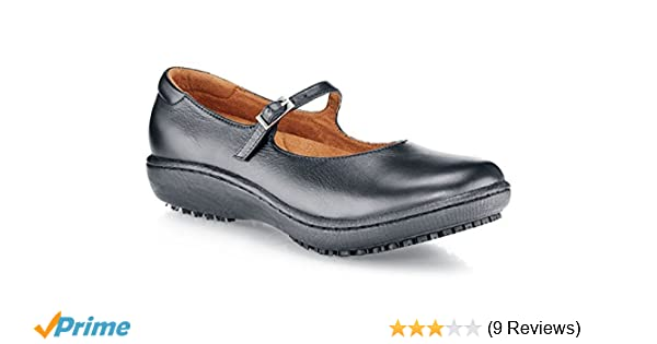 Non Slip EN safety certified BLACK 4 UK Shoes for Crews 3002-37//4//6.5 MARY JANE II Womens Slip On Shoes