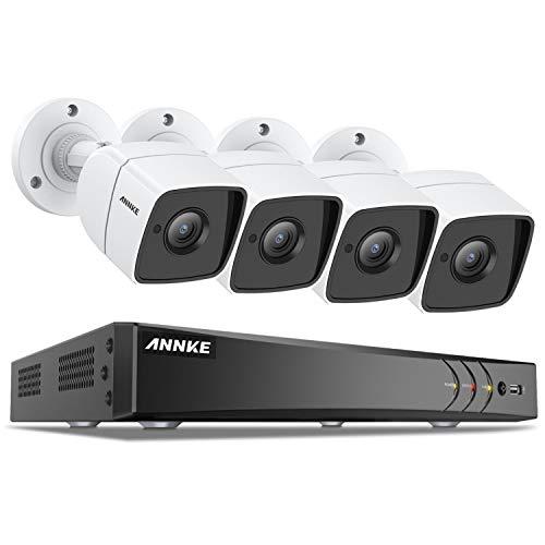 ANNKE 8.0MP Überwachungskamera System 4x 5.0MP Außen Überwachungskamera und 8CH 5 in 1 TVI CCTV DVR/Recorder ohne Festplatte Haus HD System Indoor/Outdoor Metallschale Wasserdicht IR Nachtsicht