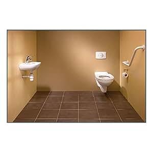 Pack ERP avec WC suspendu rallongé, comprenant 1 WC, 1 barre de maintien, 1 lave-main, 1 robinetterie, 1 guide d'utilisa