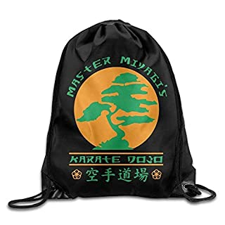 gthytjhv Bonsai Karate Dojo Drawstring Backpack Bag Beam Mouth Yoga Sackpack Rucksack Shoulder Bags Men Women Lightweight Unique 16.9x14.2