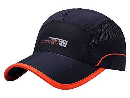 AIVTALK Unisex Verstellbare Baseball Cap Sommer Mesh Running Hüte Sport Cap Outdoor Sport Wasserdicht Hat Trucker Hat für Wandern Radfahren, Herren, Schwarz, Einheitsgröße -