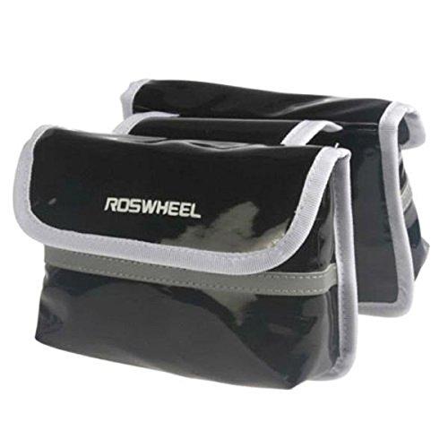 Roswheel Fahrradrahmen Frontseiten-Schlauch-Doppelt-Seiten-Tasche grôn
