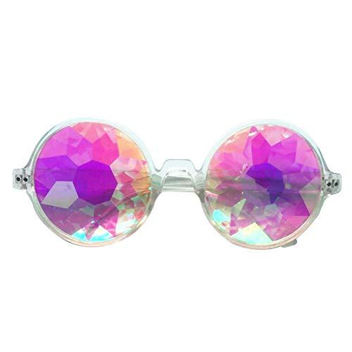 AchidistviQ Fashion Sonnenbrille Rund Kaleidoskop Herren Frauen Brille Cosplay Schutzbrille Eyewear Farblos