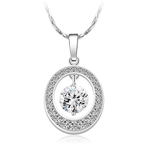 xuping joyas chapado en platino collar con colgante populares para las mujeres de regalo de joyería