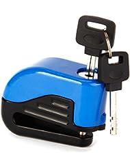 Antivol Bloc Disque Bloque alarme Moto Auad Velo Jaune Argente Bleu Securite cle
