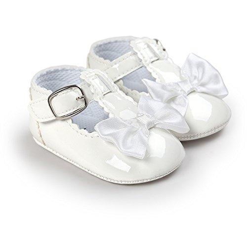 Baby Mädchen Leder T-Strap Schuhe Kleinkind Prinzessin Party Schuhe Weiß