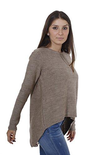 Key Largo - T-shirt de sport - Uni - Manches Longues - Femme Taupe