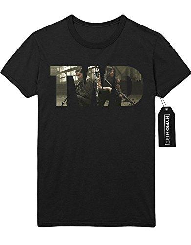 T-Shirt The Walking Dead TWD Rick & Daryl C777667 Schwarz