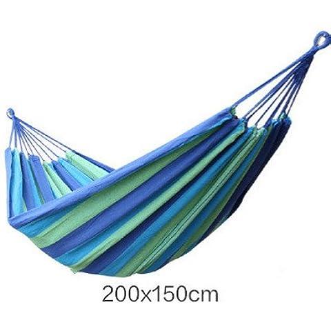 Konda portatile 2persona Campeggio Giardino Spiaggia Viaggio Tela hammock-blue
