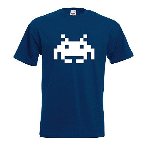 KIWISTAR - Space Invaders T-Shirt in 15 verschiedenen Farben - Herren Funshirt bedruckt Design Sprüche Spruch Motive Oberteil Baumwolle Print Größe S M L XL XXL Navy