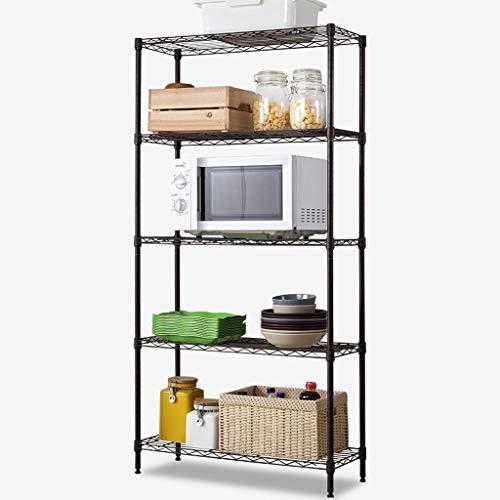 YST Bücherregal HX 5 Schicht 6 Schicht Metallregal Bücherregal Lagerung Display Stehen mehrschichtige Rack Mehrschichtiges einfaches Lagerregal (Size : B) - Solid Shelf Kit