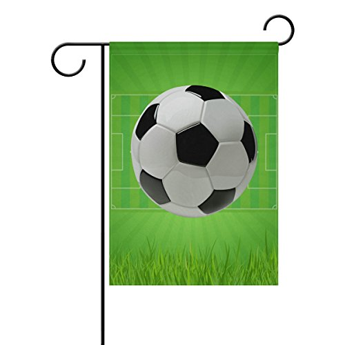 LIANCHENYI Soccer Fußball Field doppelseitig Familie Flagge Polyester Outdoor Flagge Home Party Decro Garten Flagge 30,5x 45,7cm, Polyester, multi, 12x18(in) (Drucken Fußball-feld)