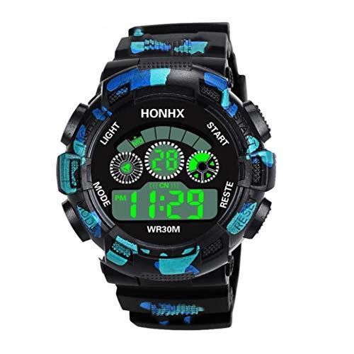 Armbanduhr Jungen Uhren Mädchen Kinder Elektronische Uhr Chenang tarnt drei Augen Digital Analog Wasserdicht Sports Uhren für Jungen und Mädchen Digital Uhr Sports Uhren