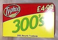Typhoo Black Tea One Cup 300 Round Teabags