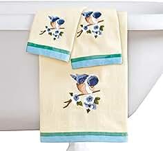 Collections Etc - Juego de 3 Toallas Bordadas para pájaros, Incluye Toalla de baño,