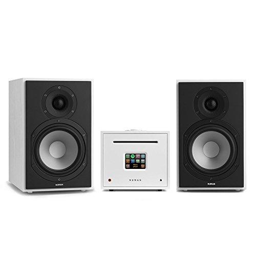 NUMAN Unison Reference 802 • Internet Stereoanlage • Verstärker • Lautsprecher • 2 x 40 W • Internetradio • Spotify-Connect • WLAN • UKW • DAB+ • TFT-Farbdisplay • inklusive Fernbedienung • weiß