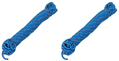 AceCamp 2 x Kunststoffseil, PP Polypropylen, Outdoor-Seil, Mehrzweck-Seil, Tau, Leine, Doppelpack Blau, 3mm x 10m, 90319