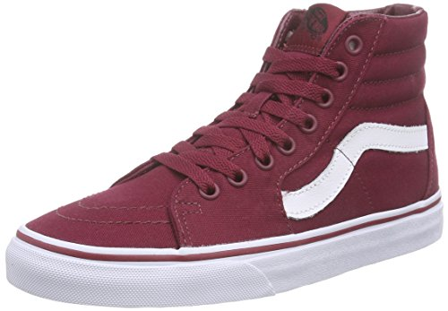 Vans Sk8-hi, Unisex-Erwachsene Hohe Sneakers, Rot (Canvas/Cordovan/True White), 40 EU