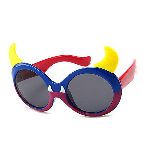 Wang-RX Kindersonnenbrille-Karikatur polarisierte Baby-Glas-flexible Sicherheits-Rahmen-Schatten für Jungen-Mädchen UV400