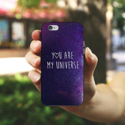 Apple iPhone X Silikon Hülle Case Schutzhülle Spruch Liebe Freundschaft Silikon Case schwarz / weiß