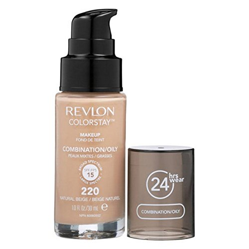 Revlon ColorStay Makeup for Combi/Oily Skin Natural Beige 220, 1er Pack (1 x 30 g) (Foundation Beige Natural)