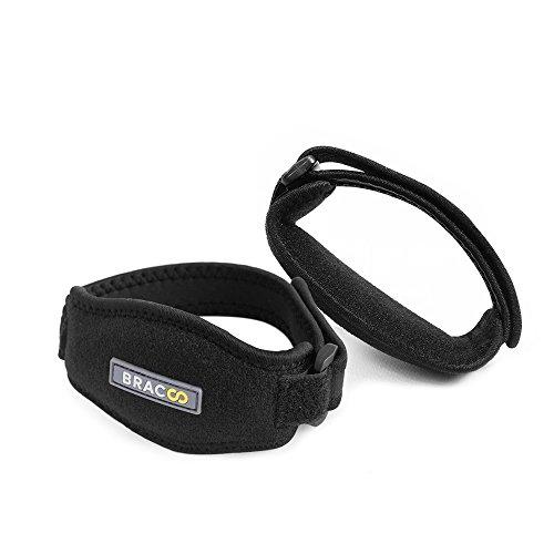 BRACOO Tennisarm Bandagen Set (2 Stück) – Golferarm Ellenbogenspangen – Epicondylitis | Ellenbogenbandage für Tennisarm mit Kompressionskissen für gezielte Unterstützung | Extra Breit