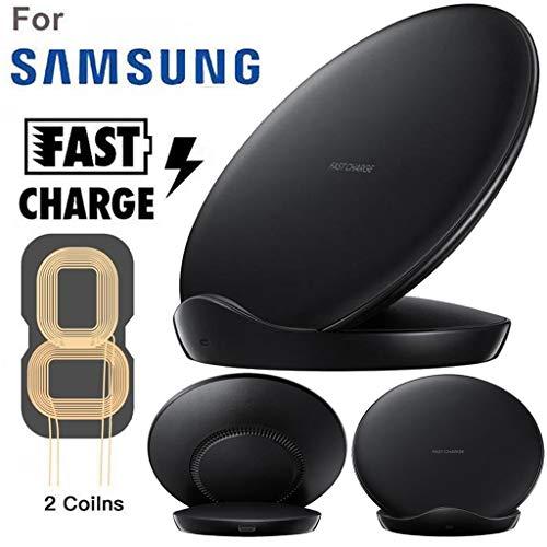 Para Samsung Galaxy S10 / S10 Plus Dual Coils Qi Cargador inalámbrico Dock Dock, ultrafino, carga...