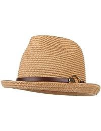 Gorros Unisex Sombrero De Paja Hombre Damas Solar Protector Sombrero De Panamá Acogedor Sombrero De Sol con Sombrero De Banda Sombrero De Playa Gorras