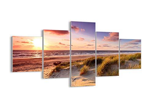 Glas - Glasbilder - fünf Teile - Breite: 125cm, Höhe: 70cm - Bildnummer 3540 - fünfteilig - mehrteilig - zum Aufhängen bereit Kunstdruck - GEA125x70-3540
