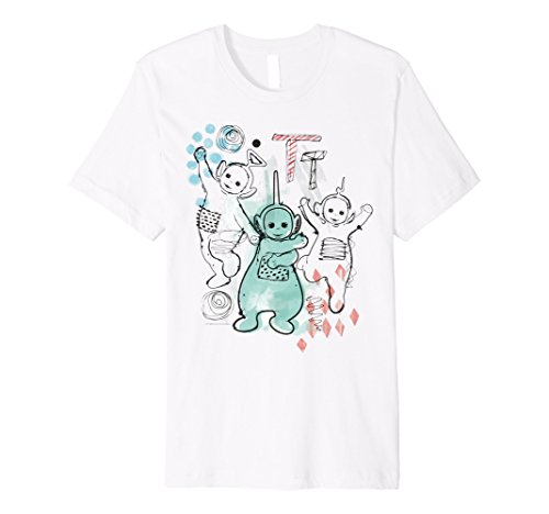 Teletubbies Ink Art T-shirt for Men or Women - S to 3XL