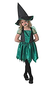 Disfraz de bruja para niñas pequeñas, disfraz oficial de Rubie