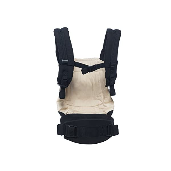 """Ergobaby Baby Carrier Toddler Front Back Original Black/Camel, 100% Cotton Ergonomic Child Carrier Backpack Ergobaby Ergonomic Baby Carrier - Ergonomic for baby with wide deep seat for a spread-squat, natural """"M"""" seated position. Baby carrying system with 3carry positions:  front-inward, hip and back. From baby to toddler: 5.5*-15kg (*from 3.2-5.5kg / 7-12lbs with Infant Insert, sold separately). Wearing comfort - All-day comfort with extra-padded shoulder straps (1 inch high density foam) and padded waistbelt  (1/4 inch) 3"""