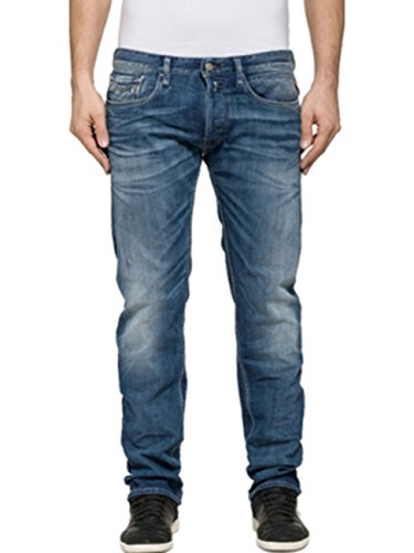 Replay Newbill, Jeans Homme Blau (Blue Denim 9)