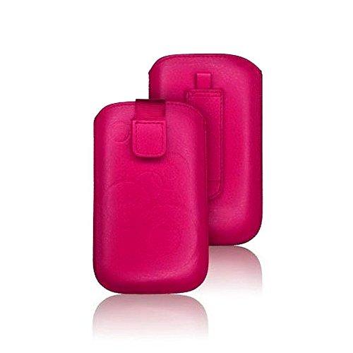 tag-24 Schutzhülle Slider Deko Etui Handytasche Cover passend für KAZAM LIFE R5 outdoor pink