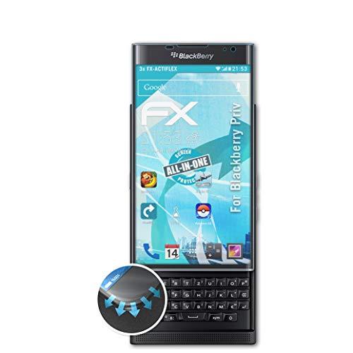 atFolix Schutzfolie passend für BlackBerry Priv Folie, ultraklare & Flexible FX Bildschirmschutzfolie (3X)