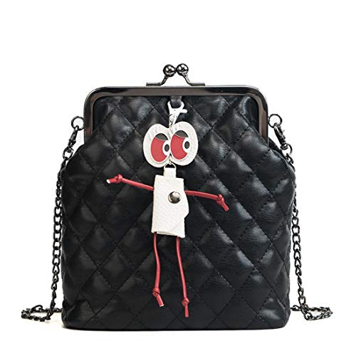 Hungrybubble Kleine pu-Leder handtaschen für Frauen umhängetasche geldbörse (Color : Black)