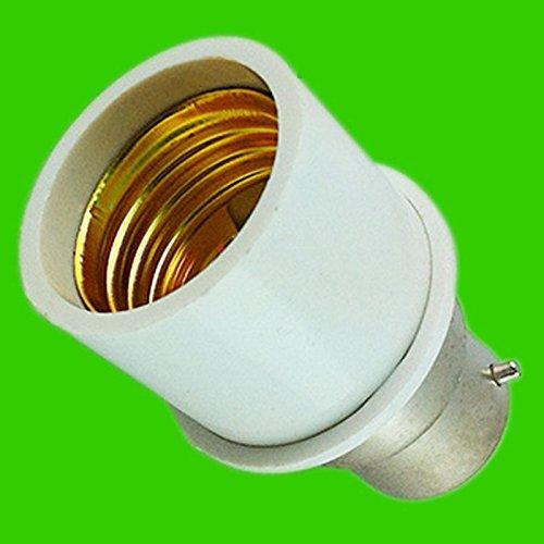 Weiße Miniatur-leuchtstofflampe (zantec B22zu E27Converter Lampenfassung bayonet-type in Schraub-LED Glühlampe Sockel weiß)