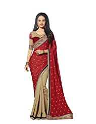 Aarti Latest Fashionable Party Wear Fancy Saree Bridal Embroidery Saree Wedding Wear Free Size - B00VRM6PA4
