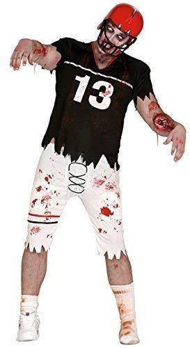 ig Toter Zombie American Quarterback Sport Fußball Halloween Gruslige Kostüm Kleid Outfit ()