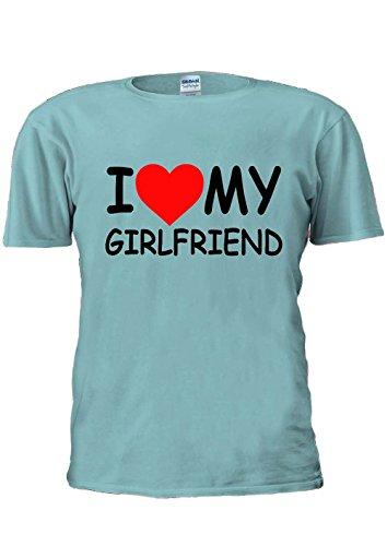I Love My Girlfriend Girl Friend Heart Tumblr Fashion Unisex T Shirt Top Men Women Ladies-L