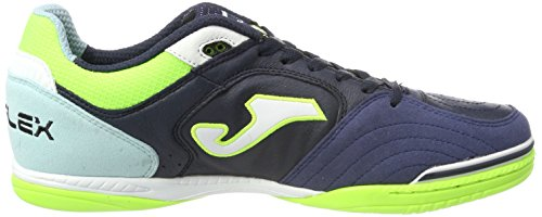 Joma TOP FLEX Indoor - Scarpe Calcetto Uomo - Mens Futsal Shoes navy-turquoise