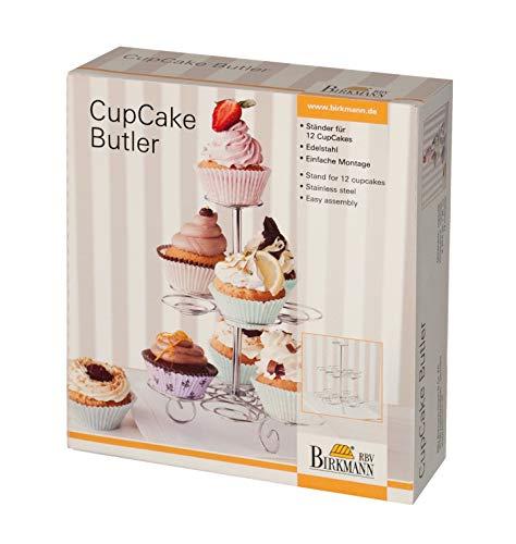 Birkmann 429284 CupCake Butler | Easy Baking Etagere Edelstahl, in Geschenkverpackung Cake Butler